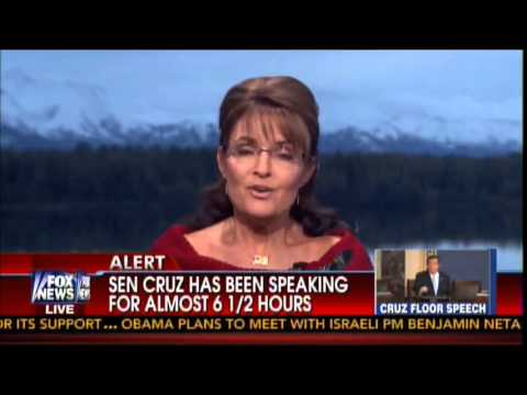 Gov. Palin: Sen Cruz Right Vote for Cloture = Vote for ObamaCare