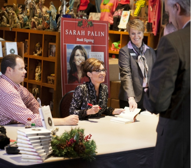 Sarah Palin signs books Dec. 6 at the Billy Graham Library in Charlotte. (Billy Graham Evangelistic Association)