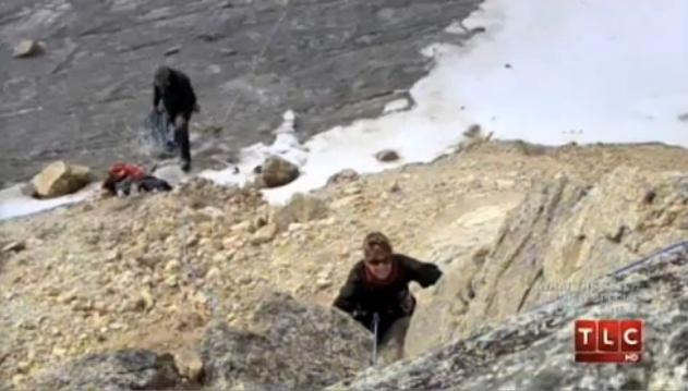 Master List of Gov. Palin's 2014 Accomplishments anchor image - Sarah Palin rock climbing 1