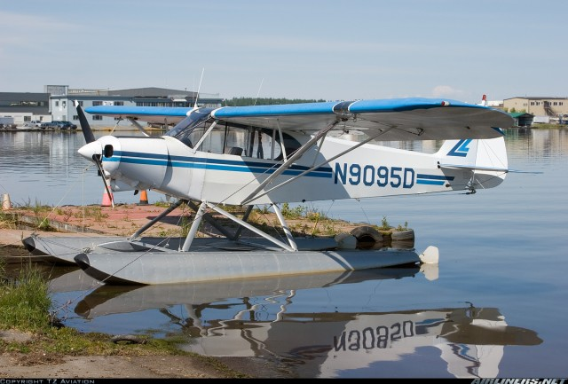 File photo: Piper Super Cub. Tail number is NOT the Palin's plane.