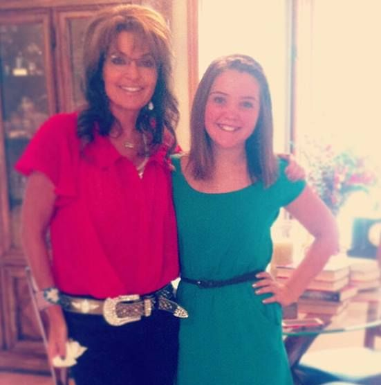Piper and Sarah Palin
