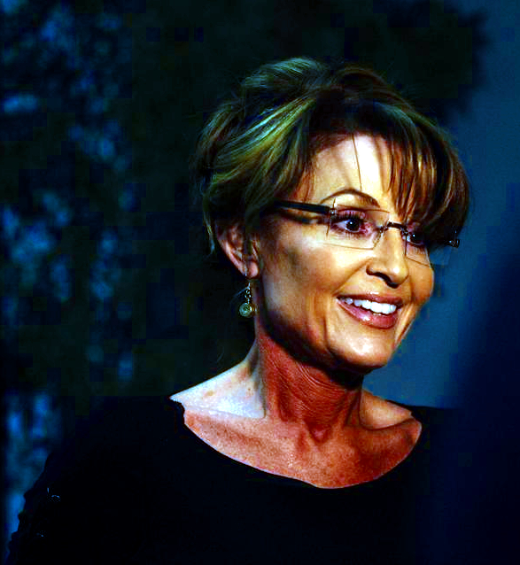 Sarah Palin in blue