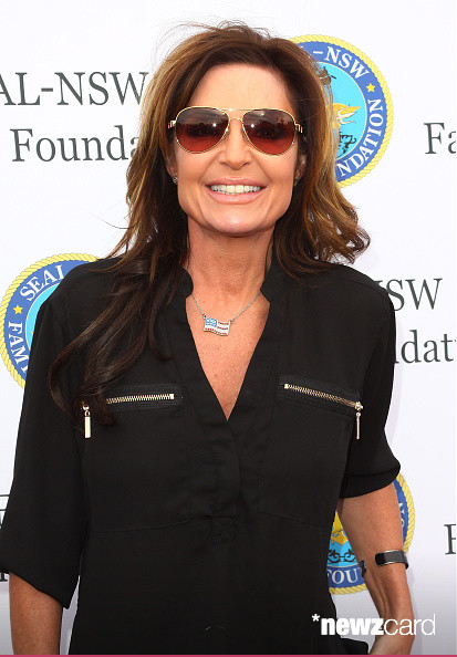 Sarah Palin Honors SEALs Aboard USS Iowa - Sarah Palin attends the SEAL-NSW family foundation 2nd annual dinner gala at USS Iowa on May 16, 2015 in San Pedro, California. (Photo by JC Olivera/Getty Images)