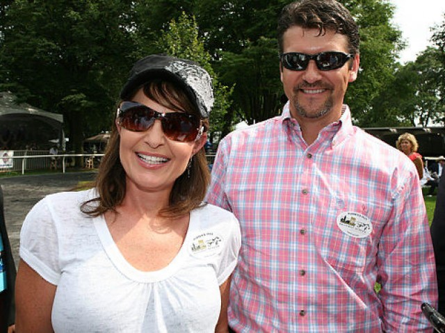 Sarah and Todd Palin at Belmont Racetrack