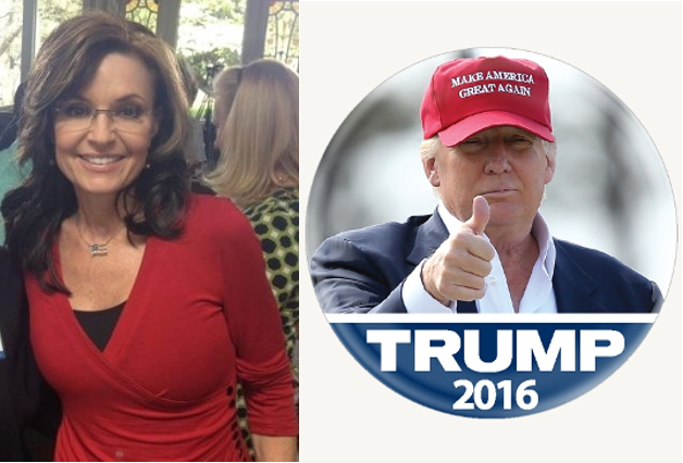 LIVE - Palin Boards the Trump Train