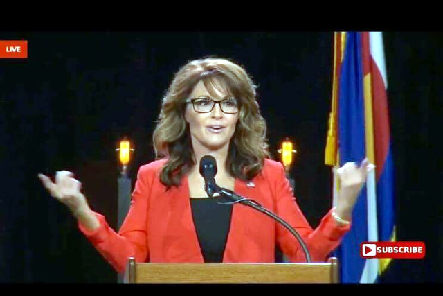 Trump is winning because voters want their country back, former Alaska Governor and VP candidate Sarah Palin said today at the Western Conservative Summit.